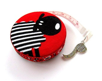 Measuring Tape Black and White Sheep Retractable Pocket Tape Measure