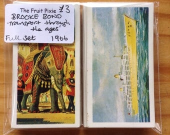 1966 'Transport  through the Ages' Brooke Bond Tea Cards, Full Set