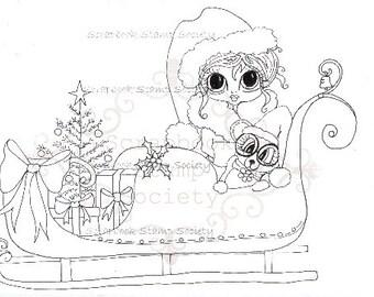 INSTANT DOWNLOAD Digital Digi Stamps Jingel Bear Big Eyed  Besties Big Head Dolls Digi By Sherri Baldy