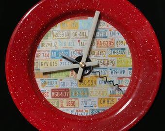 "License ""Plate"" Travel RV/Camper Clock"