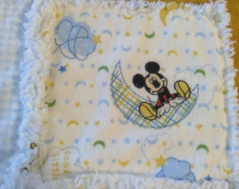 Mickey Mouse Burp Cloth / Changing Pad / Home from the Hospital Blanket
