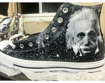 Albert Einstein Custom Converse All Stars