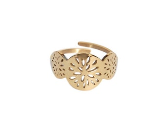 Ysé ring - Gold beautiful sunshine circles ring