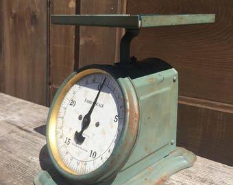 Vintage Blue Kitchen Scale