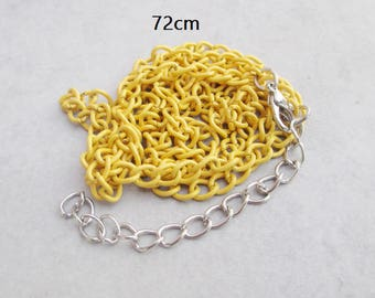 1 x 72cm yellow metal chain necklace