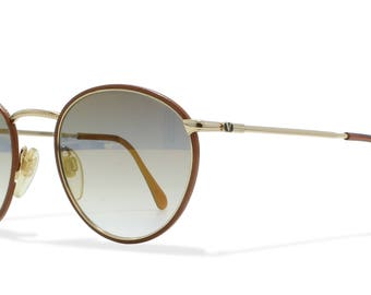 Valentino 377 991 Brown , Gold Vintage Sunglasses Round For Men and Women
