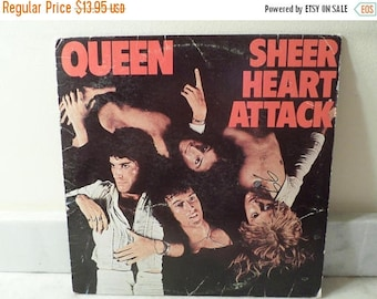 Save 30% Today Vintage 1974 Vinyl LP Record Sheer Heart Attack Queen Good Condition 14627