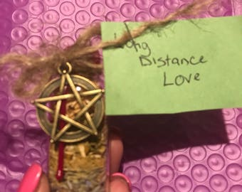 Long distance love witches bottle