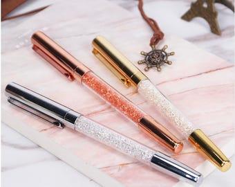 Crystal Pen/Gem Pen /USA Seller/Stationary/Supplies/Pen/Office/School/Wedding/Bridesmaid Gift/Journal/Planner Pen/Fancy Pen/Rose Gold