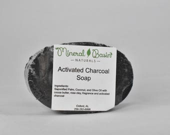Oval Activated Charcoal Soap - VEGAN