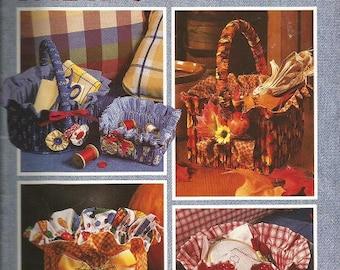 "Leisure Arts ""Fabric Baskets"" Leaflet"