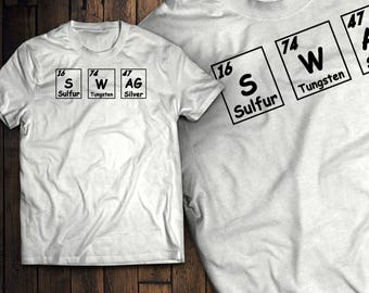SWAG Periodic Table Funny Chemistry Elements Shirt