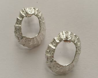 Prussia Cove Sterling Silver Limpet Stud Earrings