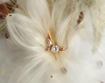 Petite Blossom Necklace - 14K