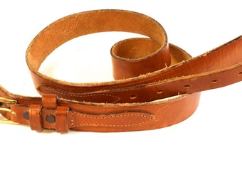 Vintage brown western leather belt by Tex Tan