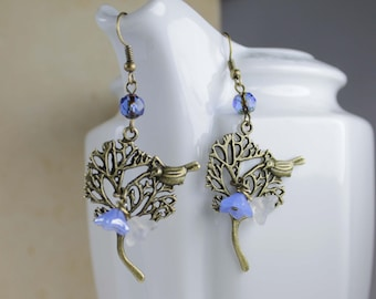 Mother's Day Gift -Sweet bird earrings- For her- Coupon code