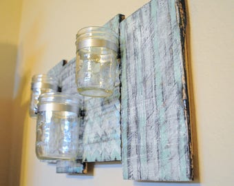 Custom Painted Mason Jar Wall Hanging