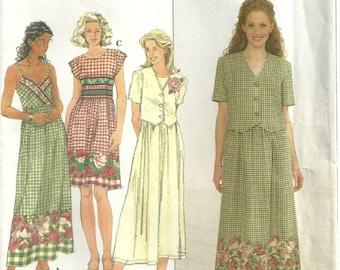 Simplicity 8007 Vintage Strappy Summer Dress in 2 Styles & Short Jacket Sewing Pattern Size 6 - 8 - 10