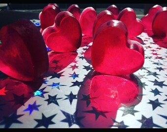 Heart shaped soap with a fruity twist. You get 4 in a bag.