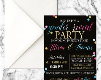 Gender Reveal Invitation (digital file)