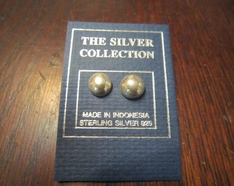 Sterling Half Ball Stud Earrings