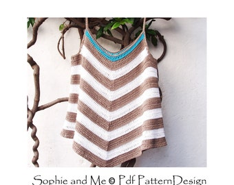 Tropic Summer Top - Crochet Pattern - Instant Download