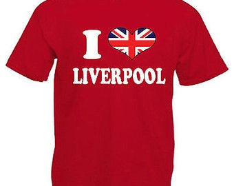 I love heart liverpool adults mens t shirt 12 colours size s - 3xl