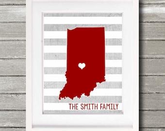 State Love Custom Family Name