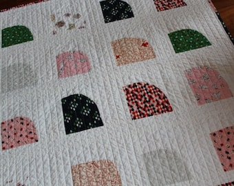 Cotton and Steel Modern Baby Girl Quilt