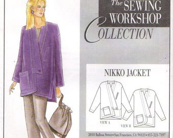 The Sewing Workshop Collection NIKKO JACKET Bust 32 - 42 Sizes 8 - 18 Small to Large