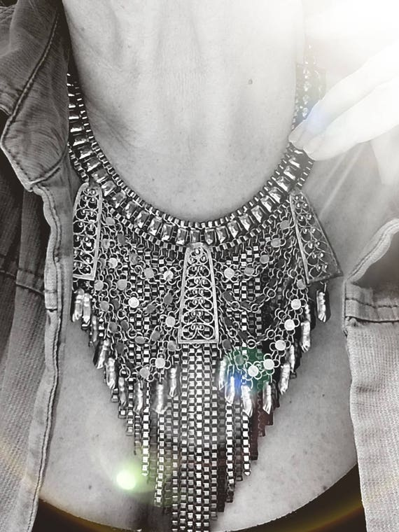 SOLD! Vintage Layered Bib Necklace