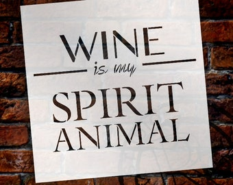 Beer Is My Spirit Animal Stencil by StudioR12 | Reusable Mylar Template | Use to Paint Wood Signs - DIY Winery Decor - SELECT SIZE