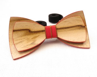 Beautiful Wood Bow Tie 0047