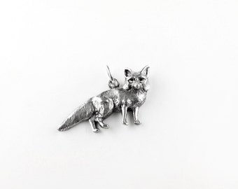 Big Fox Sterling Silver Charm