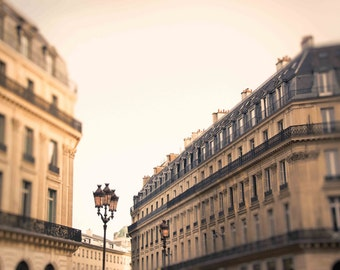 Paris Street Photograph With Lanterns, 9th Arrondissement Vintage French Photography, Europe, Wall Art, Home Decor : Lanterns at the Opera