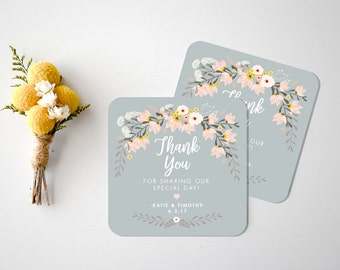 Wedding Coasters  Custom Wedding coasters  Wedding Thank You Card  Bar Coasters  Rustic Wedding Coasters  Custom Paper Coasters