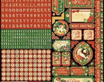 Graphic 45-St. Nicholas Sticker Sheet
