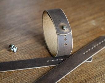 Leather watch strap for Timex Weekender - Brown Crazyhorse