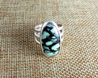 New Lander Turquoise Sterling Ring  (Size 8.5)