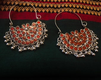 Ethnic earrings, Afghani earrings- Kuchi earrings-vintage style earrings-Bollywood style earrings- India- handcrafted-tribal jewelry-Ethnic