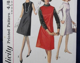 1960's Sewing Pattern for a Dress in Size 12 - Simplicity 6116