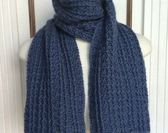 Crochet Scarf Pattern - The Maritimes Men's Scarf - 2-in-1 Men's Scarf Pattern with Instructions in Pictures and Writing - Instant Download!
