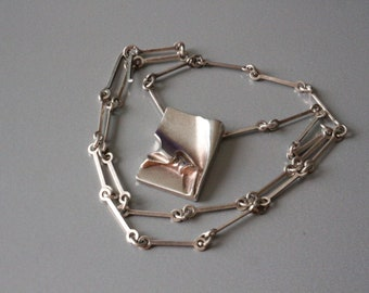 Lapponia sterling silver necklace decorated with, Bjorn Wekstrom, Finland.
