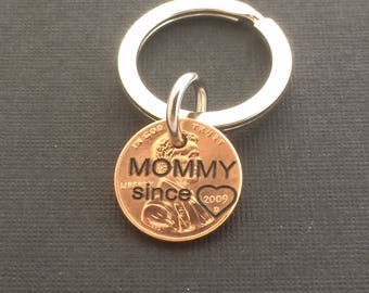 Mommy Since Penny - Gift for Her - Daughter Gift For - Engraved Penny - Son Gift For - New Mommy - Best Mommy