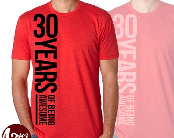 Years of Awesome, Men's Birthday T-shirt (Choose age) , birthday party / birthday gift / tshirts / birthday