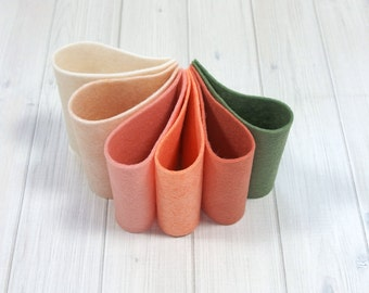 Felt Bundle - Victorian Postcard Color Set - Wool Blend Felt Sheets, 9 x 12 inches