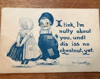 Bernhardt Wall Vintage Valentine Googley Eyes Dutch Children Valentine Postcard