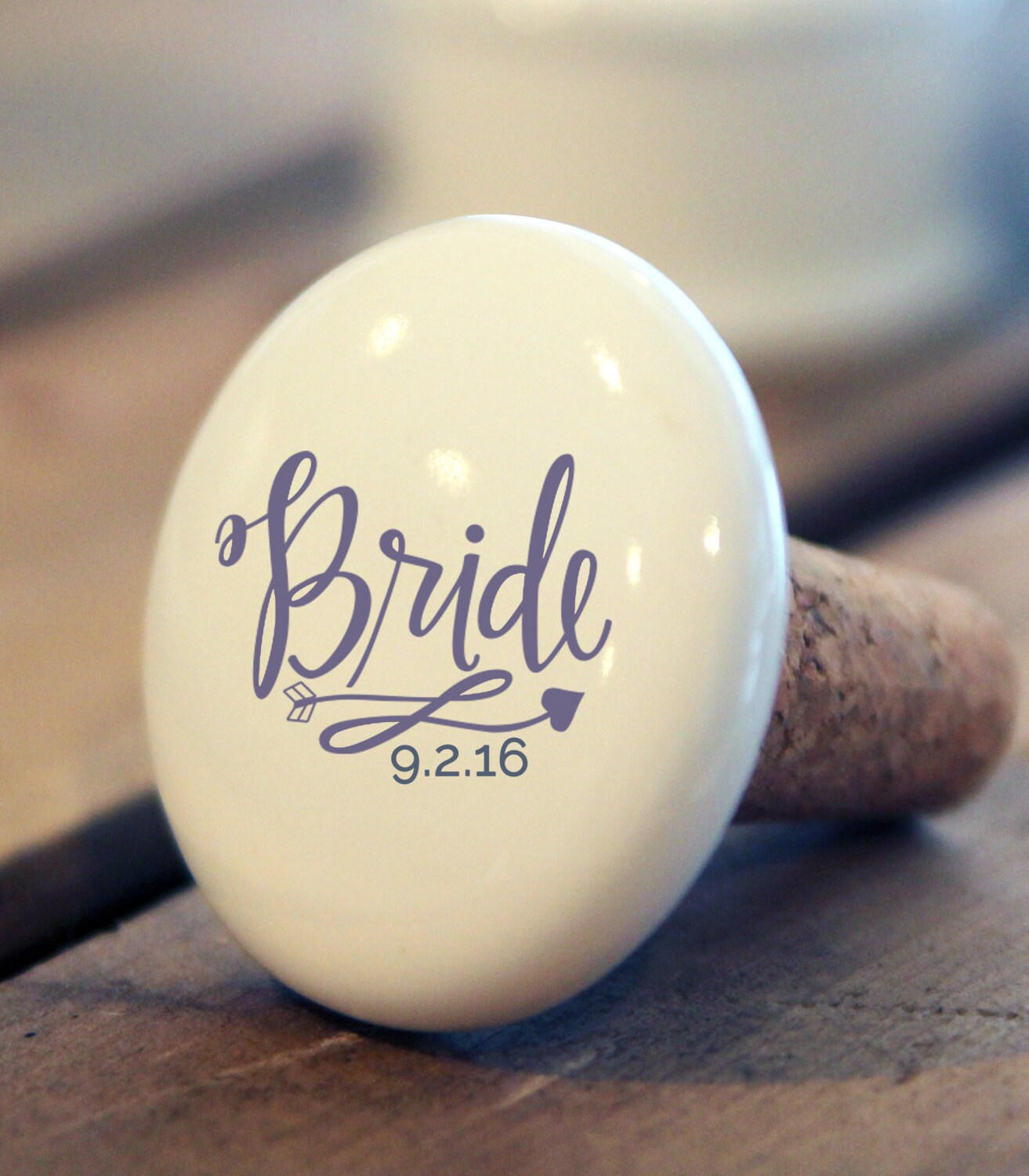 Bride Gift Wine Stopper. Wedding party gifts mother of bride