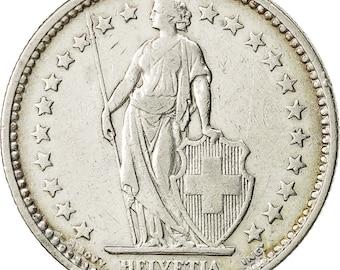 switzerland 2 francs 1907 bern ef(40-45) silver km21