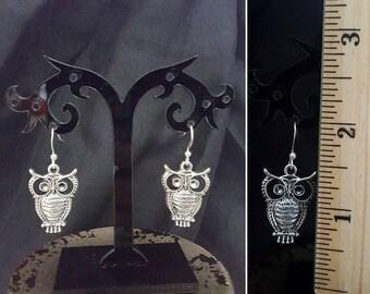 SALE Owl Earrings